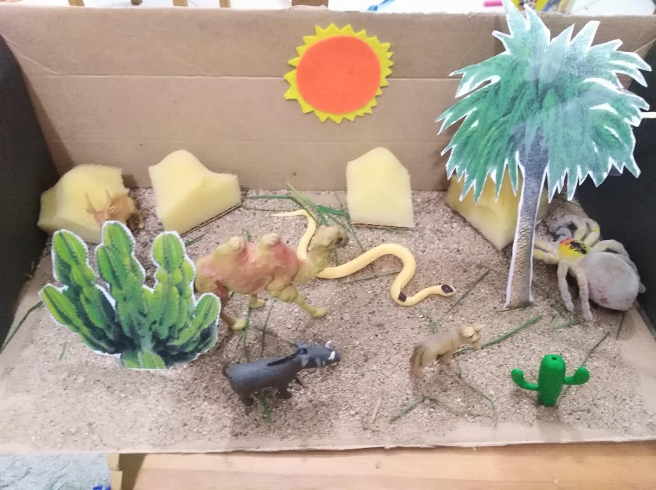 صورة سؤال في عمل مجسمات عن البيئة