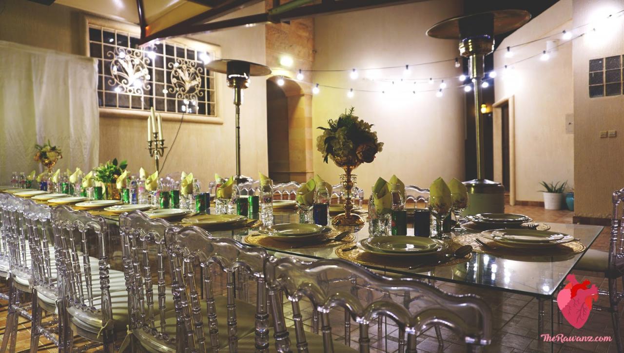 صورة طاولات استقبال المعازيم لزواج اولاد اختي 1216 2