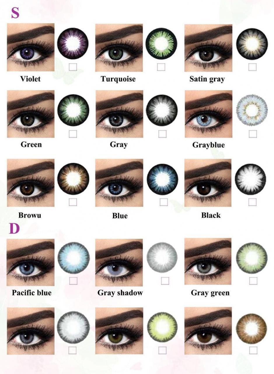 ما افضل نوع عدسات ملونة للعين